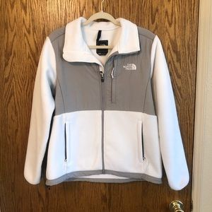 The North Face White fleece jacket